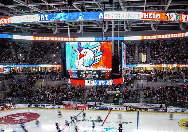 image of hockey arena with scoreboard